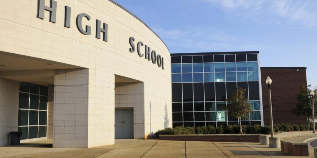 Modern high school entrance